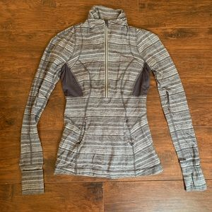 Lulu lemon grey running tech sweatshirt